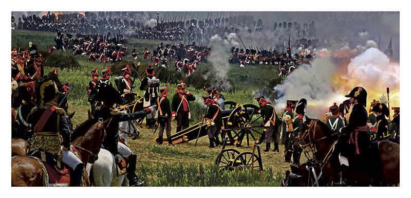 CARTE-US-POSTAL-WATERLOO-CHANT-DES-CANONS