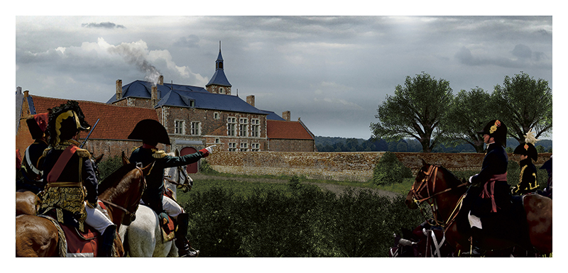 CARTE-US-POSTAL-WATERLOO-HOUGOUMONT
